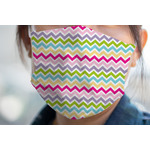 Colorful Chevron Face Mask Cover (Personalized)