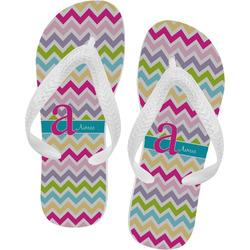 Colorful Chevron Flip Flops (Personalized)