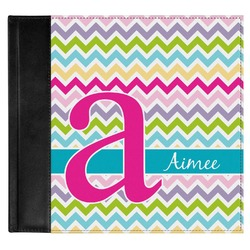 Colorful Chevron Genuine Leather Baby Memory Book (Personalized)