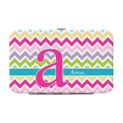 Colorful Chevron Genuine Leather Small Framed Wallet (Personalized)