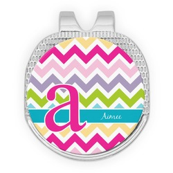 Colorful Chevron Golf Ball Marker - Hat Clip