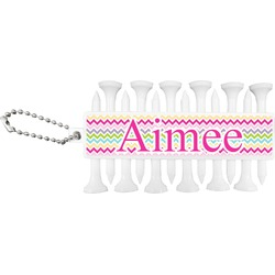 Colorful Chevron Golf Tees & Ball Markers Set (Personalized)