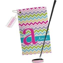 Colorful Chevron Golf Towel Gift Set (Personalized)