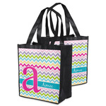 Colorful Chevron Grocery Bag (Personalized)