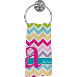 Colorful Chevron Hand Towel - Full Print (Personalized)