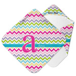 Colorful Chevron Hooded Baby Towel (Personalized)