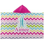 Colorful Chevron Kids Hooded Towel (Personalized)