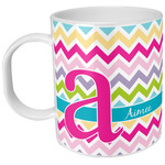 Colorful Chevron Plastic Kids Mug (Personalized)