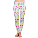 Colorful Chevron Ladies Leggings (Personalized)