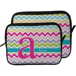 Colorful Chevron Laptop Sleeve / Case (Personalized)