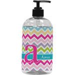 Colorful Chevron Plastic Soap / Lotion Dispenser (Personalized)