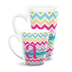 Colorful Chevron Latte Mug (Personalized)