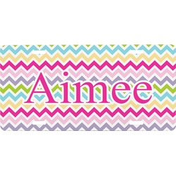 Colorful Chevron Front License Plate (Personalized)
