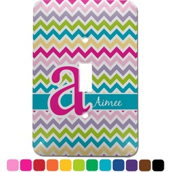 Colorful Chevron Light Switch Cover (Single Toggle) (Personalized)