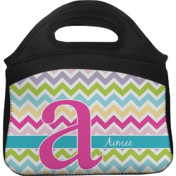 Colorful Chevron Lunch Tote (Personalized)