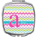 Colorful Chevron Compact Makeup Mirror (Personalized)