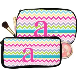 Colorful Chevron Makeup / Cosmetic Bag (Personalized)