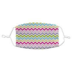 Colorful Chevron Adult Cloth Face Mask (Personalized)