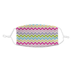 Colorful Chevron Kid's Cloth Face Mask (Personalized)