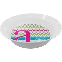Colorful Chevron Melamine Bowl (Personalized)