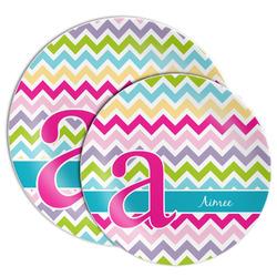 Colorful Chevron Melamine Plate (Personalized)