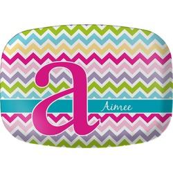 Colorful Chevron Melamine Platter (Personalized)