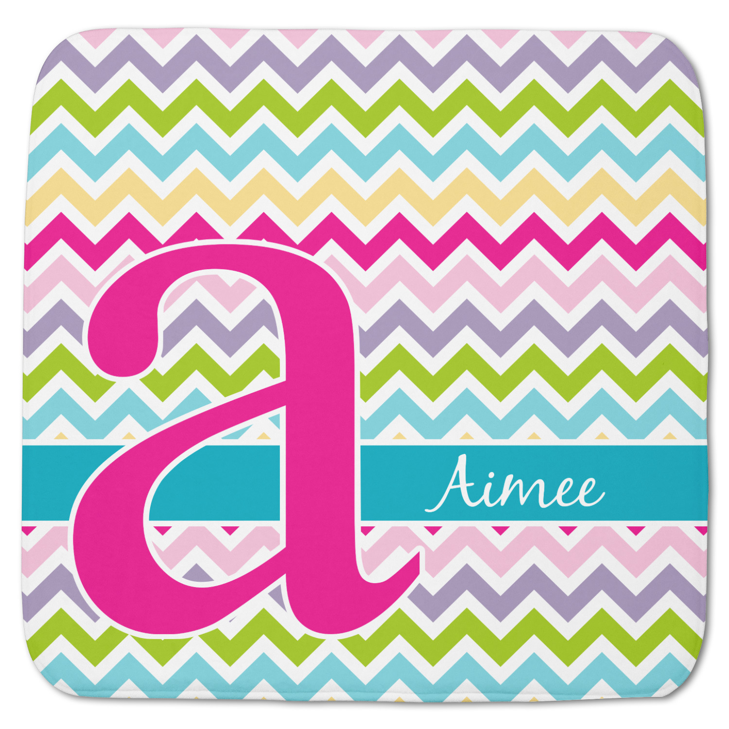 Colorful Chevron Memory Foam Bath Mat Personalized