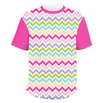 Colorful Chevron Men's Crew T-Shirt (Personalized)