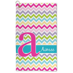 Colorful Chevron Microfiber Golf Towel - Large (Personalized)