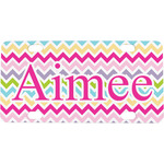 Colorful Chevron Mini / Bicycle License Plate (Personalized)