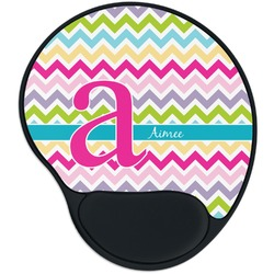 Colorful Chevron Mouse Pad with Wrist Support
