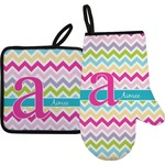 Colorful Chevron Oven Mitt & Pot Holder (Personalized)
