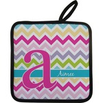 Colorful Chevron Pot Holder (Personalized)