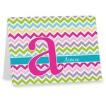 Colorful Chevron Note cards (Personalized)