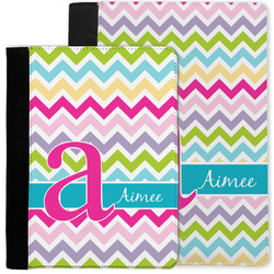 Colorful Chevron Notebook Padfolio w/ Name and Initial