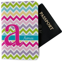 Colorful Chevron Passport Holder - Fabric (Personalized)