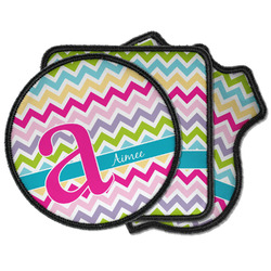 Colorful Chevron Iron on Patches (Personalized)