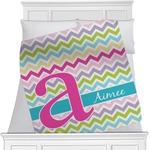Colorful Chevron Minky Blanket (Personalized)