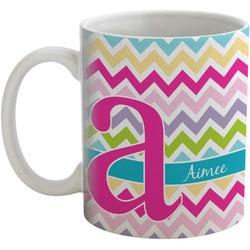 Colorful Chevron Coffee Mug (Personalized)