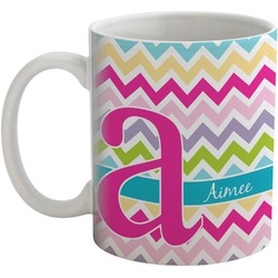 Colorful Chevron Coffee Mug (Personalized)