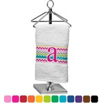 Colorful Chevron Finger Tip Towel (Personalized)