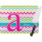 Colorful Chevron Rectangular Glass Cutting Board (Personalized)