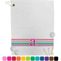 Colorful Chevron Golf Towel (Personalized)
