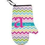 Colorful Chevron Right Oven Mitt (Personalized)