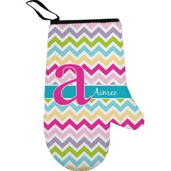 Colorful Chevron Oven Mitt (Personalized)