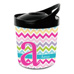 Colorful Chevron Plastic Ice Bucket (Personalized)