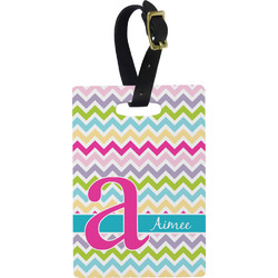 Colorful Chevron Rectangular Luggage Tag (Personalized)