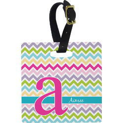 Colorful Chevron Luggage Tags (Personalized)