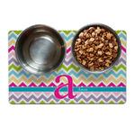 Colorful Chevron Pet Bowl Mat (Personalized)