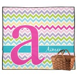 Colorful Chevron Outdoor Picnic Blanket (Personalized)